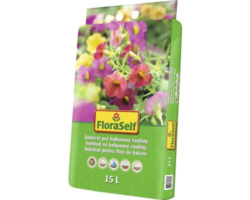 Substrát na balkónové rastliny FloraSelf 15 l
