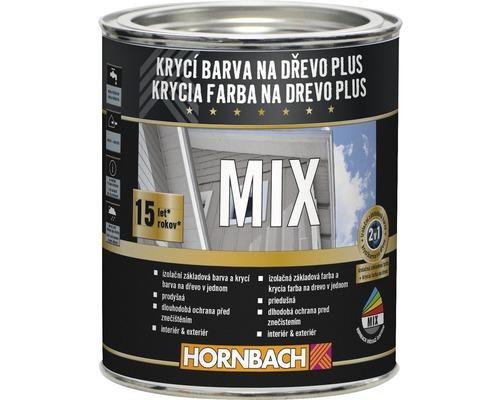 MIX Krycia farba na drevo Plus 750 ml báza C