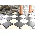 Keramická mozaika RAT 148 čierna/biela 30 x 30 cm