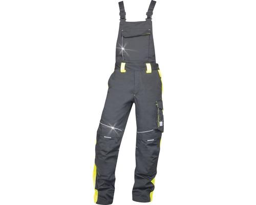 Pracovné nohavice ARDON náprsenka NEON čierno-žlté veľkosť 58