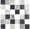 Sklenená mozaika XCM Coast 29,8x29,8 cm strieborná