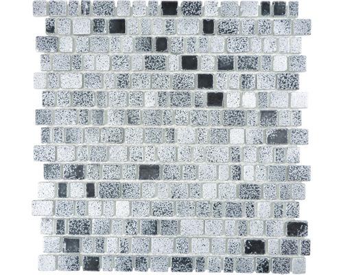 Sklenená mozaika XCM GME 26 31,7x31,1 cm sivá/čierna