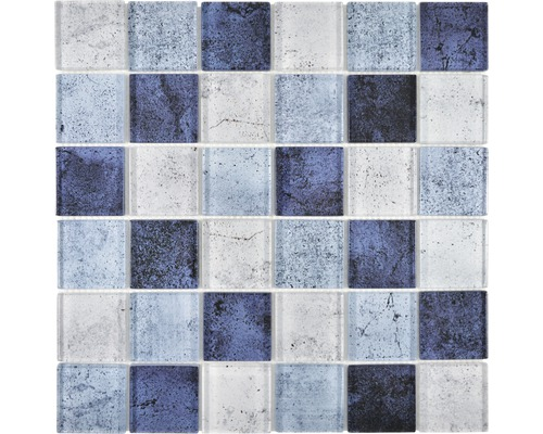 Sklenená mozaika XCM Moon26 29,8x29,8 cm modrá