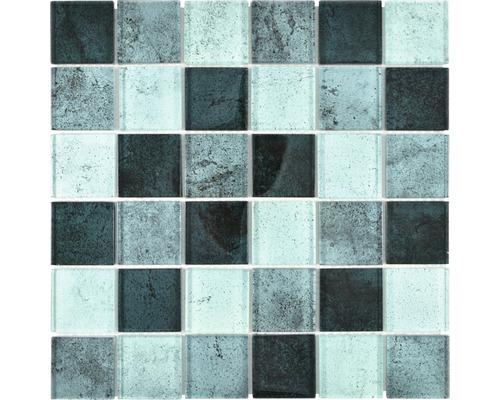Sklenená mozaika XCM Moon22 29,8x29,8 cm zelená