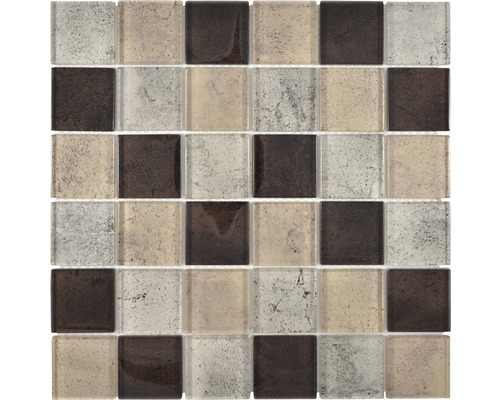Sklenená mozaika XCM Moon28 29,8x29,8 cm béžová