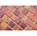 Sklenená mozaika XCM GME 96 31,7x31,1 cm červená