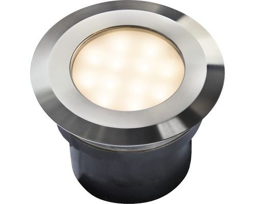 LED vonkajšie vstavané svietidlo KOS IP67 2W Ø 96mm nerezová oceľ