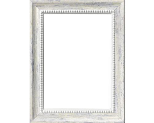 Drevený fotorámik bielomodrý 6550/04 10x15 cm