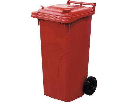 Popolnica 120 l plastová červená
