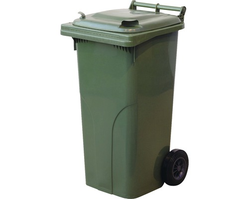 Popolnica zelená plast 120 l