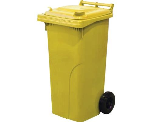 Popolnica 120 l plastová žltá