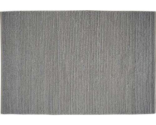 Kusový ručne prešívaný koberec s vlneným vzhľadom svetlosivý 60x90 cm