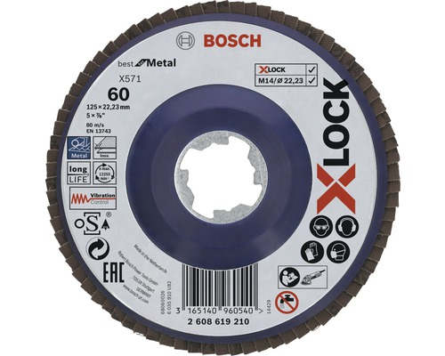 Lamelový brúsny kotúč Bosch X-LOCK Faecherscheibe BfM 125mm K60