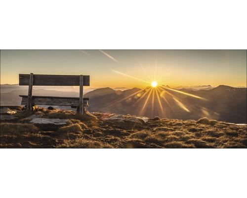 Sklenený obraz Bench & Horizon 50x125 cm