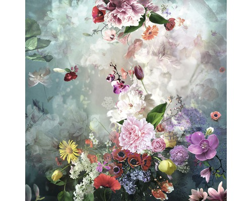 Sklenený obraz Baroque Flowermix l 30x30 cm