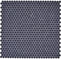 Sklenená mozaika zaoblená smalt mix čierna lesklá/matná