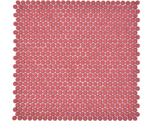 Sklenená mozaika zaoblená smalt červená