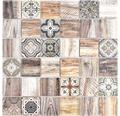 Sklenená mozaika Quadrat Crystal Mix hnedá 30x30 cm