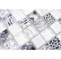 Sklenená mozaika štvorcová crystal mix superwhite