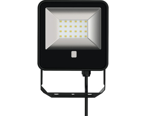 LED reflektor IP65 18W 1600lm 6500K čierny s diaľkovým ovládaním