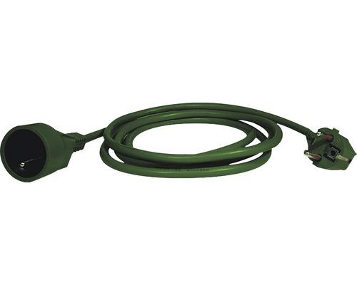 Predlžovací kábel Emos spojka 5m zelený