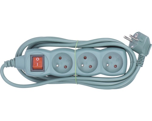 Predlžovací kábel Emos s 3 zásuvkami a vypínačom 3m zelený
