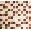 Sklenená mozaika CM 4560 30,5x32,5 cm hnedá/pastelovo béžová/žltá