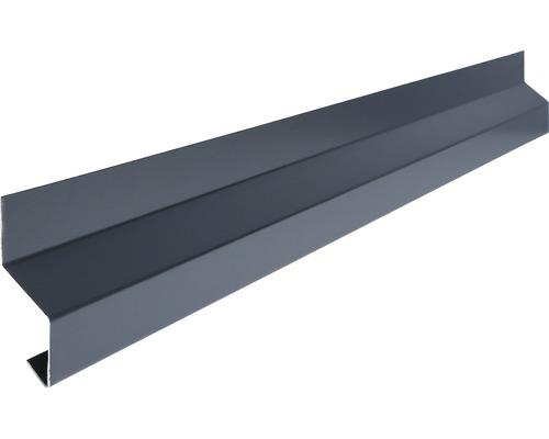 Odkvapový profil na stenu Precit Smart antracitová sivá 1 m