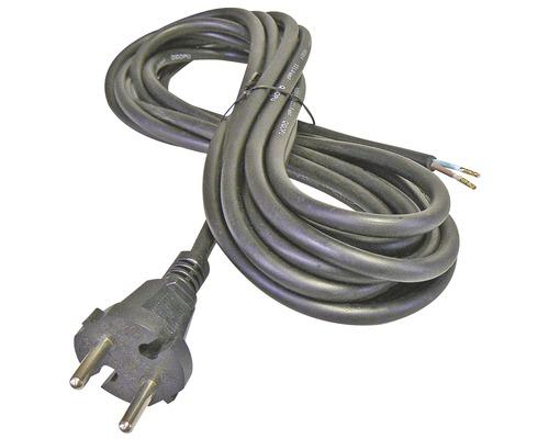 Napájací kábel Emos Flexo 2x1 3m čierny