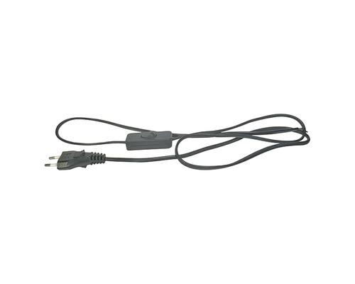 Napájací kábel Emos Flex 2x0,75 s vypínačom 3m čierny