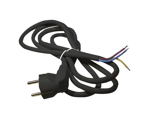 Napájací kábel Emos Flexo 3x1,5-H05VV-F 2m čierny