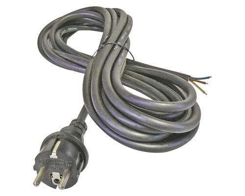 Napájací kábel Emos Flexo 3x1 3m čierny