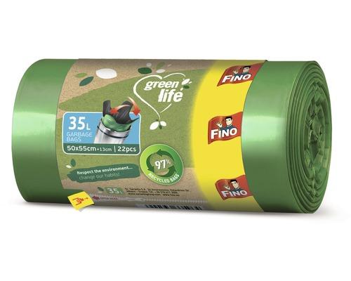 Vrecia na odpadky FINO Green Life Easy 35L, 22 ks