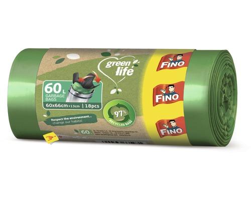 Vrecia na odpadky FINO Green Life Easy 60L, 18 ks