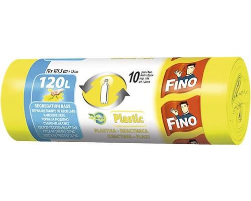 Vrecia na odpadky FINO žlté 120 l, 10 ks