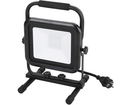 LED reflektor Panlux IP44 50W 4000K 2x zásuvka, čierny