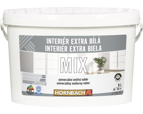 Farba Hornbach Interiér Extra Biela 5 l, báza A