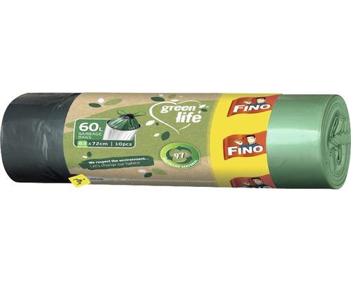 Vrecia na odpadky FINO Easy pack 60 l, 10 ks, modré