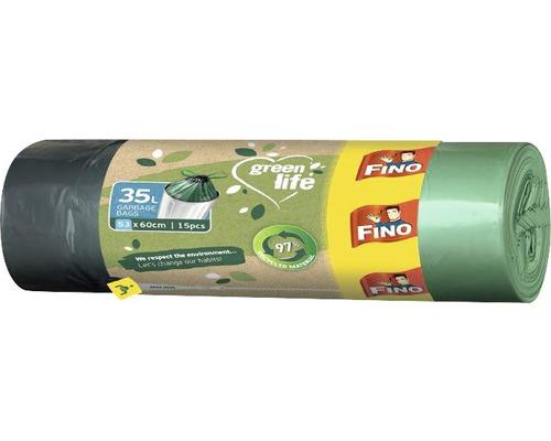 Vrecia na odpadky FINO Green Life 35 l, 15 ks