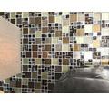 Sklenená mozaika XCM MC539 29,8x29,8 cm strieborná/béžová/hnedá