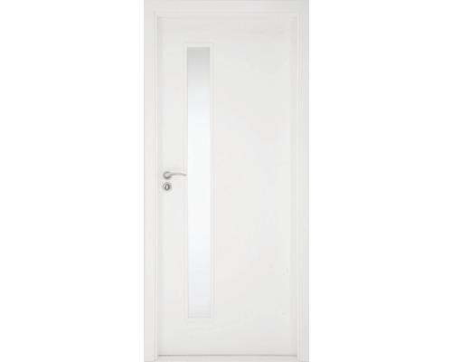 Interiérové dvere Sierra presklené 80 Ľ, fólia biela