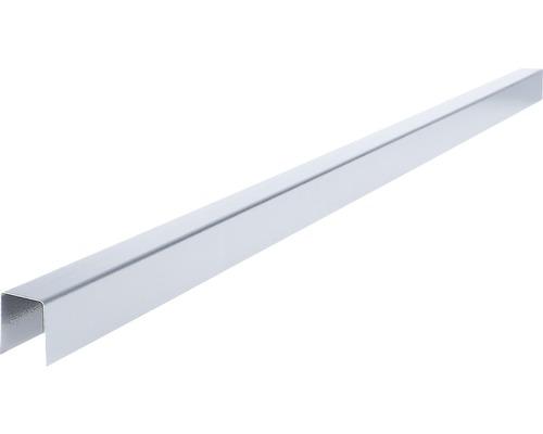 PRECIT Horný krycí profil zinok 70 mm, 1 m