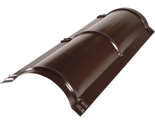 Hrebenáč polguľatý PRECIT 1000 mm 8017 čokoládová hnedá