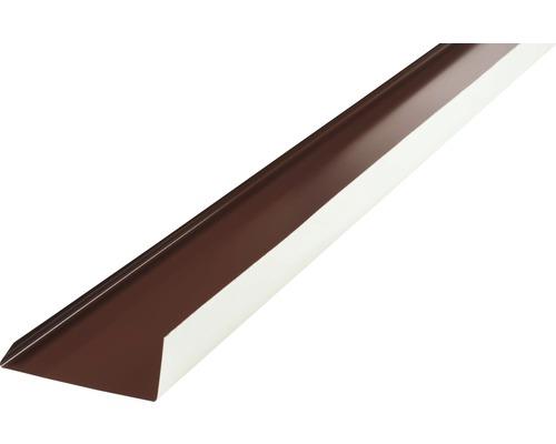Záveterná lišta PRECIT 1000 x 100 mm, 8017 čokoládová hnedá