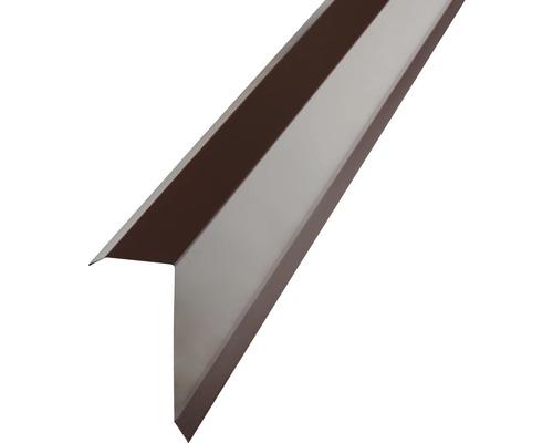 Záveterná lišta na trapézový plech H12 čokoládovo hnedá 1 m