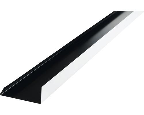 Záveterná lišta PRECIT 1000 x 100 mm, 9005 čierna