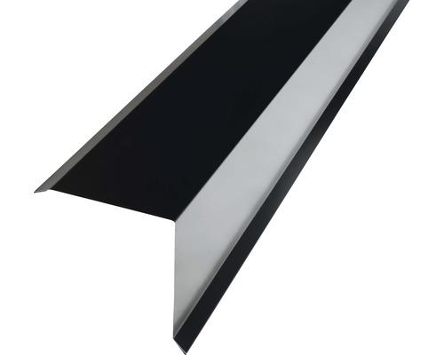 Záveterná lišta PRECIT pre plechovú krytinu 1000 mm, 9005 čierna