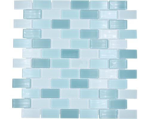 Sklenená mozaika CM B444 mix zelená 30,5x32,5 cm