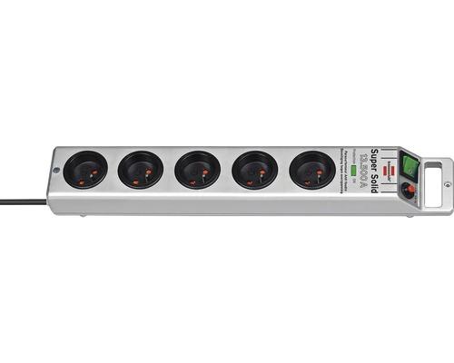 Prepäťová ochrana H05VV-F 3G1,5 5 zásuvky 2,5m sivá