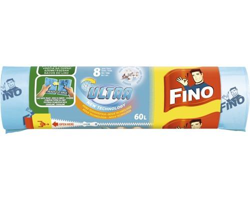 Vrecia na odpad FINO ULTRA AROMATICA 60 L, 8 ks, modré